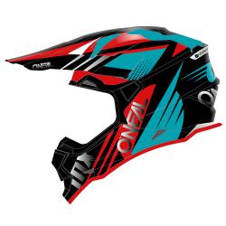 Мотокрос каска O'NEAL 2SERIES SPYDE 2.0 BLACK/TEAL/RED 2020