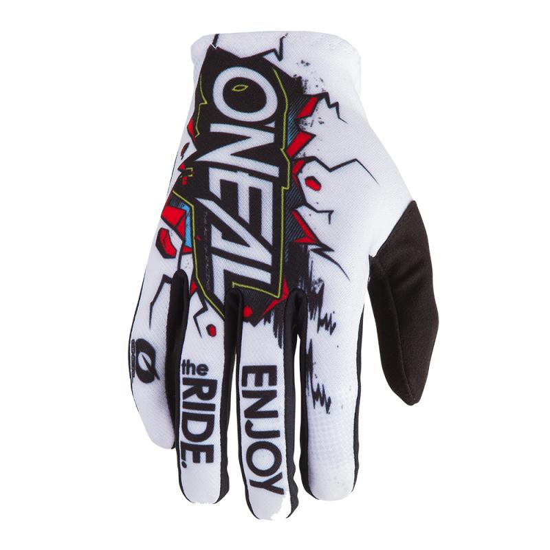 Детски мотокрос ръкавици O'NEAL MATRIX VILLAIN WHITE 2020