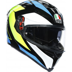 Каска AGV K5-S CORE BLACK/CYAN/YELLOW FLUO2020