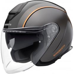 Каска за скутер SCHUBERTH M1 PRO OUTLINE BLACK/GRAY/ORANGE
