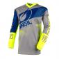 Детска мотокрос блуза O'NEAL ELEMENT FACTOR GRAY/BLUE/NEON YELLOW