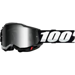 Мотокрос очила 100% ACCURI2 BLACK-MIRROR SILVER