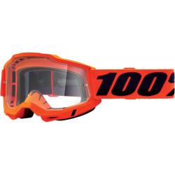 Мотокрос очила 100% ACCURI2 NEON ORANGE-CLEAR
