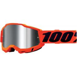 Мотокрос очила 100% ACCURI2 NEON ORANGE-MIRROR SILVER
