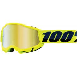 Мотокрос очила 100% ACCURI2 FLUO YELLOW-MIRROR GOLD