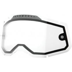 Двойна вентилирана плака за очила 100%-CLEAR