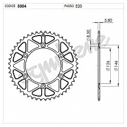 Задно зъбчато колело TROFEO 365004148 BLACK