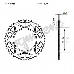 Задно зъбчато колело TROFEO 365015148 BLACK