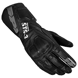 Дамски кожени мото ръкавици SPIDI STS-3 BLACK