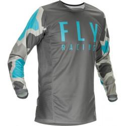 Мотокрос блуза FLY RACING KINETIC K221-BLUE/GREY