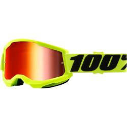 Детски мотокрос очила 100% STRATA2 YELLOW-MIRROR RED