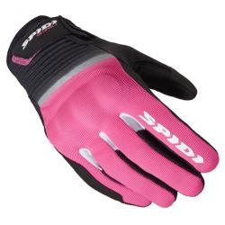 Дамски текстилни мото ръкавици SPIDI FLASH CE BLACK/PINK