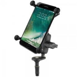 Мото стойка за телефон RAM-MOUNTS RAM-B-176-A-UN10U за големи смартфони с основа за вилка на мотоциклет, Размер В