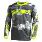 Детска мотокрос блуза O'NEAL ELEMENT CAMO V.22 GRAY/NEON YELLOW